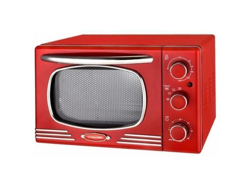 Kaloric ot2500-r - mini four - 19,5 l - 1300 w - minuterie 60 min - design retro rouge KAL5413346338327