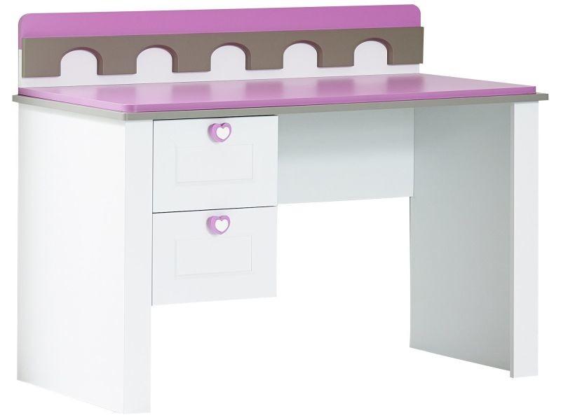 Bureau moderne pour enfant cm avec tiroirs coloris blanc et