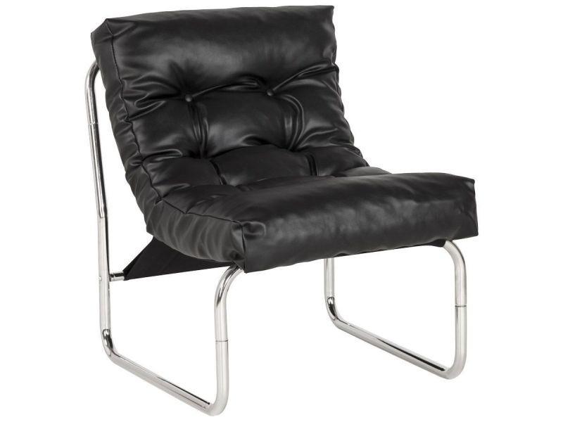 Fauteuil lounge boudoir noir