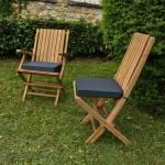 Coussin gris pour chaises et fauteuils pliants