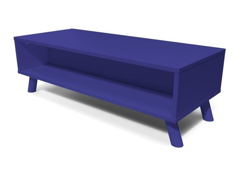 Table basse scandinave bois rectangulaire viking bleu foncé VIKINGTABLB-DF