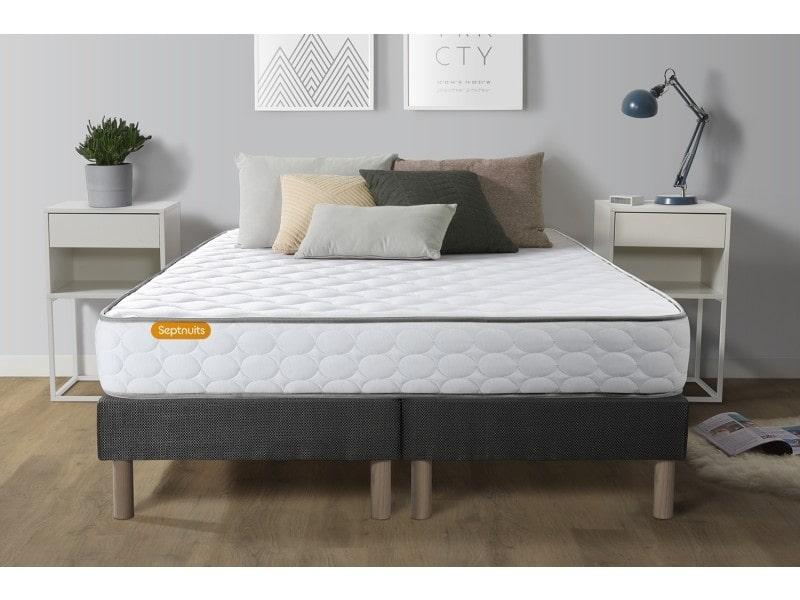 ensemble matelas 160x200 double sommier 80x200 eco green. Black Bedroom Furniture Sets. Home Design Ideas