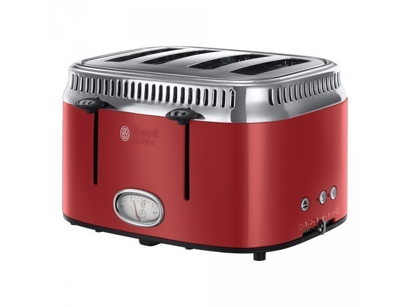 Russell hobbs toaster retro fentes rouge ruban vente