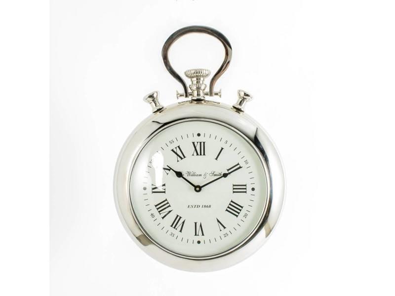 Deco Reveil Argente Metal Aluminium Vente De Horloge Conforama