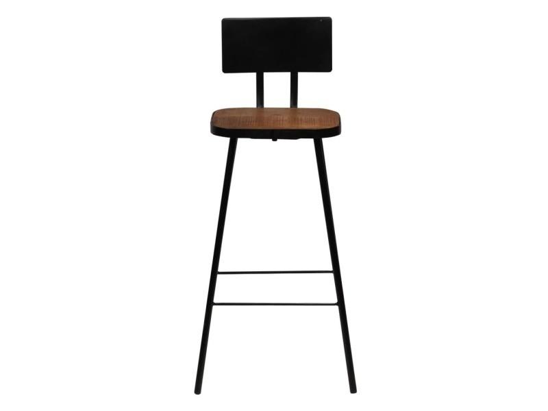 Distingué fauteuils gamme mexico chaises de bar 4 pcs bois