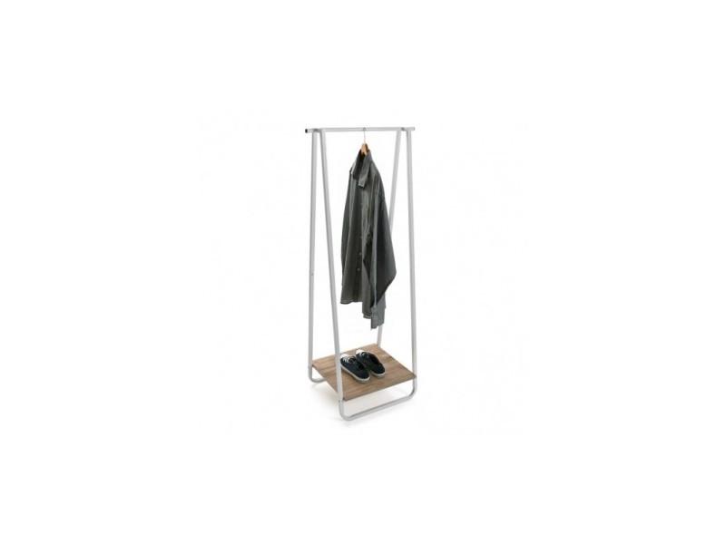 Porte manteau bois métal industriel ring