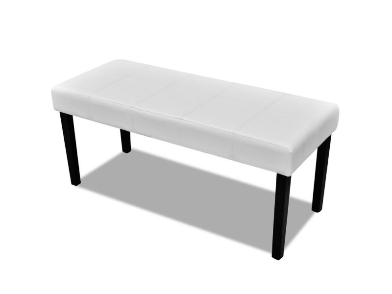 banc banquette pouf 106 cm blanc salon salle manger. Black Bedroom Furniture Sets. Home Design Ideas
