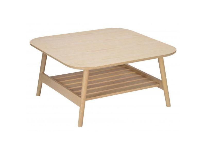 Table basse bois de chêne l80xh40xp80 cm otelo