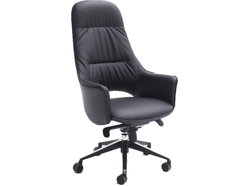 Chaise de bureau noir design en polyester vente de comforium