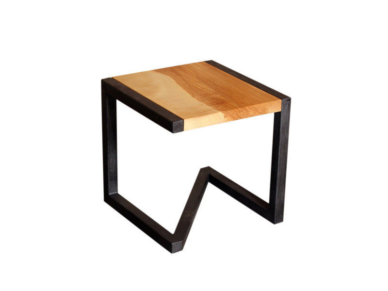 tabouret design en bois et acier vente de barnabe conforama. Black Bedroom Furniture Sets. Home Design Ideas