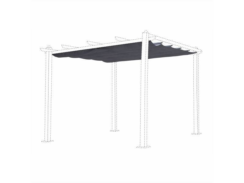 toile de toit grise pour tonnelle 3x3m condate toile de rechange pergola toile de. Black Bedroom Furniture Sets. Home Design Ideas