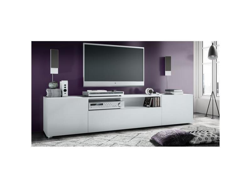 Meuble tv blanc mat 180 cm