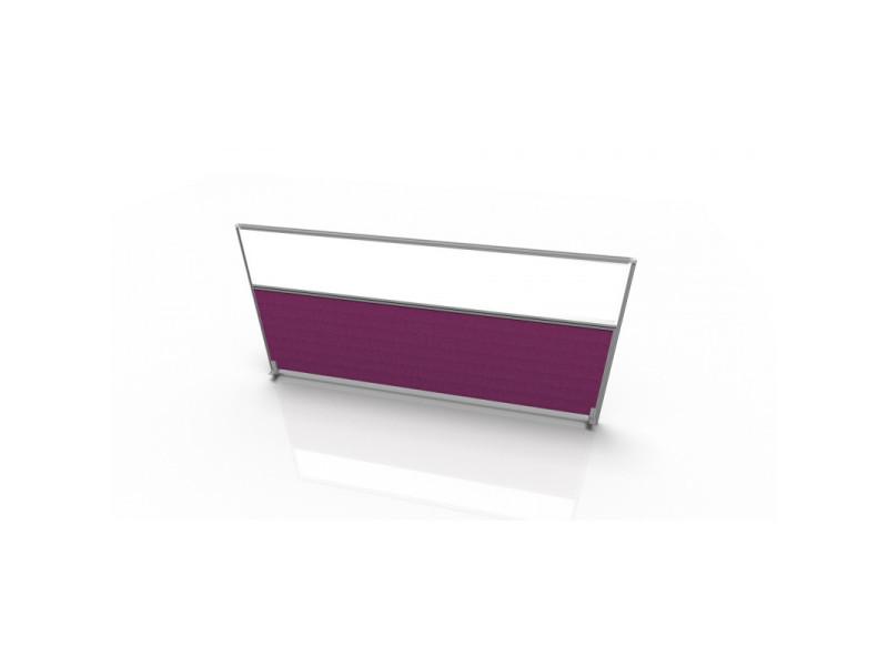 Cloisonnette frontale pour bureau individuel en tissu regis / coloris : violet / dimensions : longueur 160 cm
