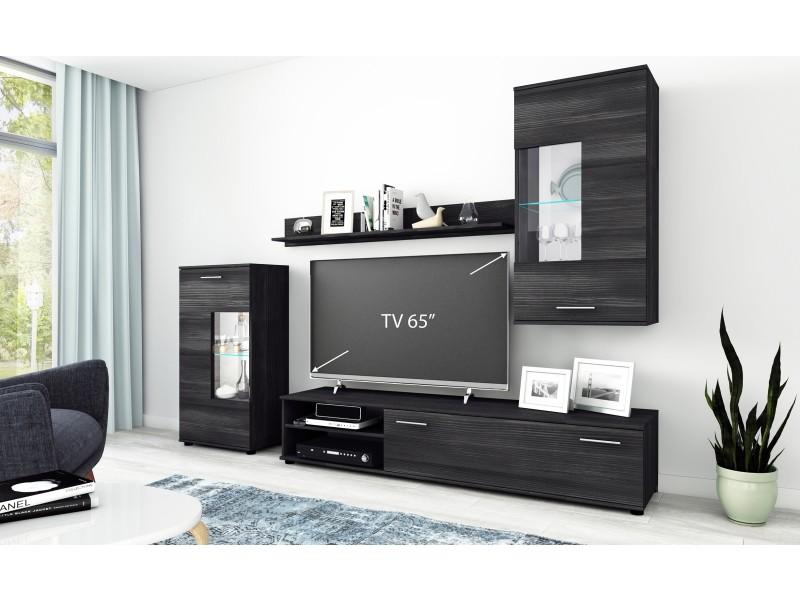 Ensemble meuble tv vartan vintage et noir