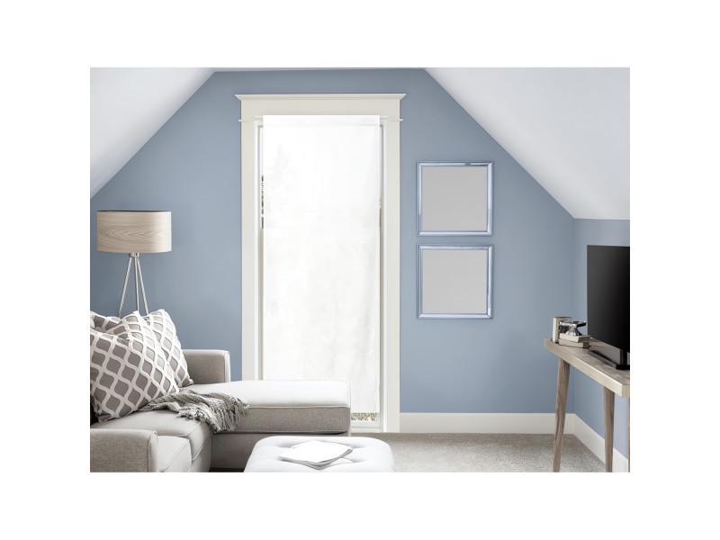 Voile pour porte fenêtre en coton 70x200 cm panama blanc