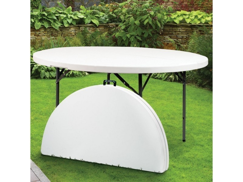 Tables de jardin admirable table ronde pliante en résine - ø ...