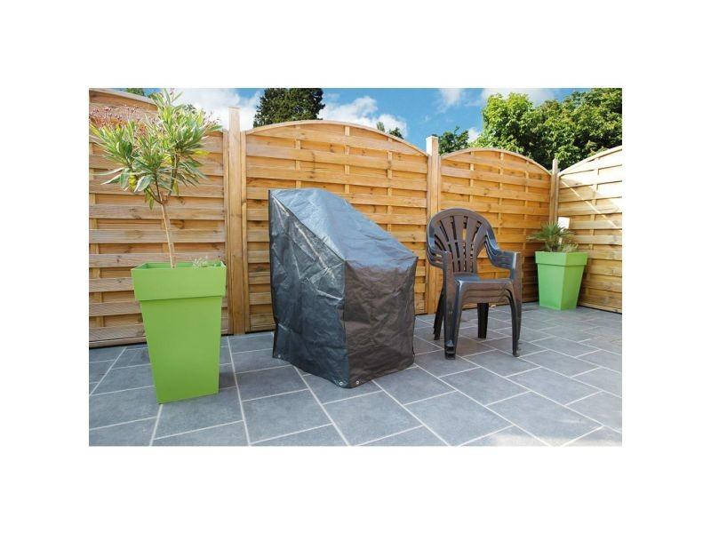 Icaverne - housses pour meubles d'extérieur gamme housse pour chaises empilées nature 110 x 68 x 68 cm pe gris foncé