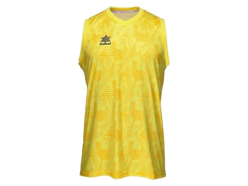 T-shirt de sport stylé taille xxl débardeur luanvi porto jaune