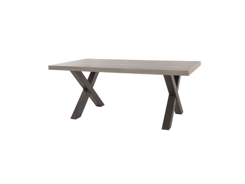 Table de repas 220 cm - tolosa - l 220 x l 102 x h 75 - neuf