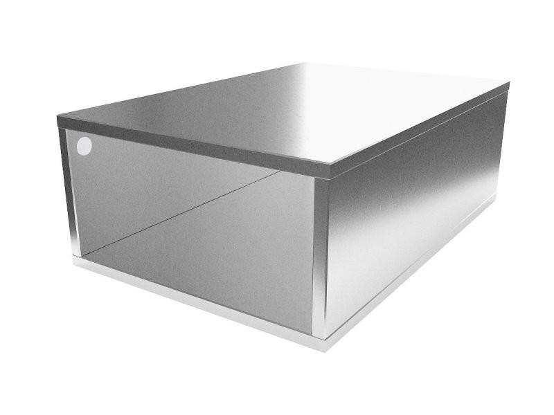 Cube de rangement bois 75x50 cm gris aluminium CUBE75-GA