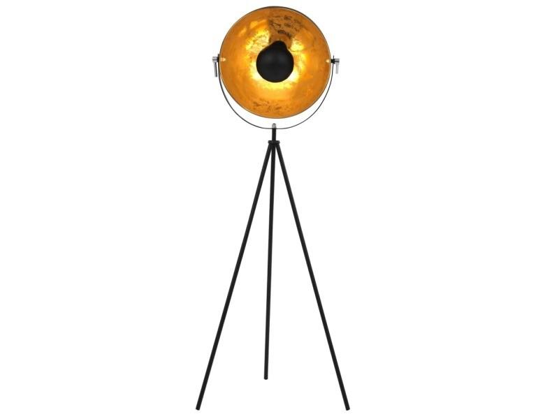 Icaverne - lampes categorie lampadaire e27 noir et doré 41 cm