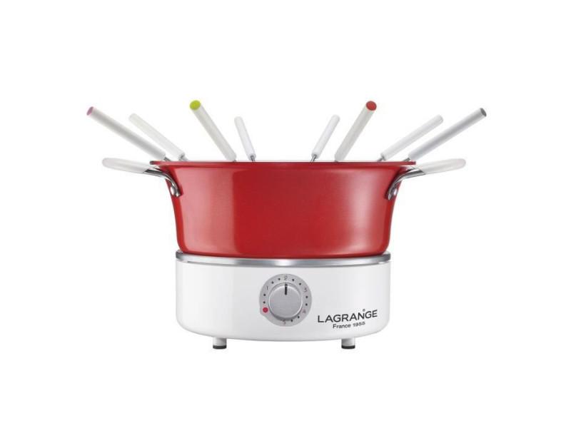 Lagrange fondue festiv' avec ramequin - 900w - 8 fourchettes a fondue - caquelon 1,2l