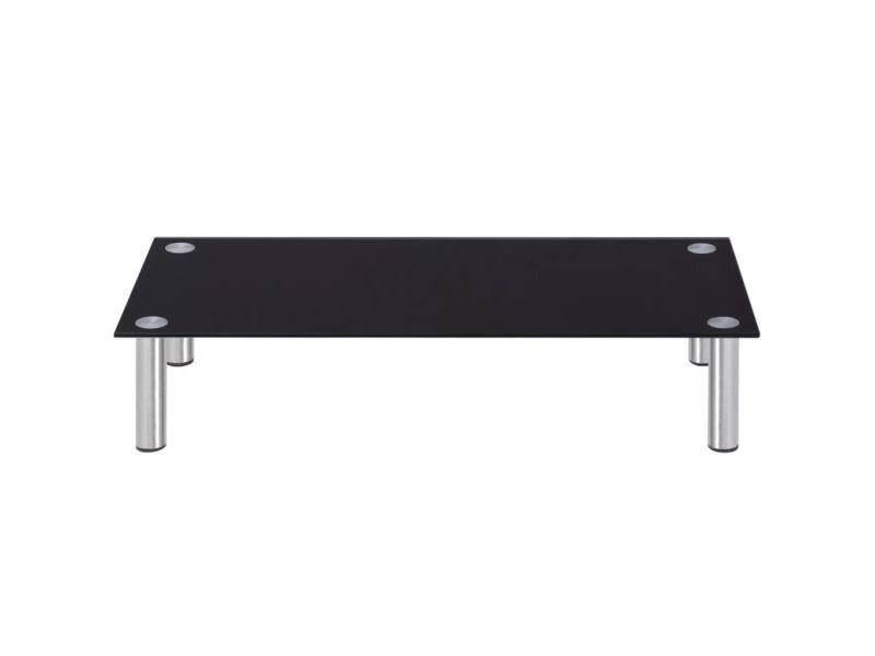 Icaverne - meubles audio/vidéo et pour home cinéma categorie support tv 80 x 35 x 17 cm verre noir
