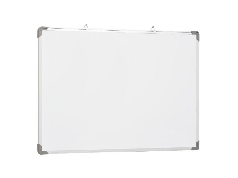 tableau blanc aimante magnetique cadre aluminium 90x60cm vente de homcom conforama. Black Bedroom Furniture Sets. Home Design Ideas