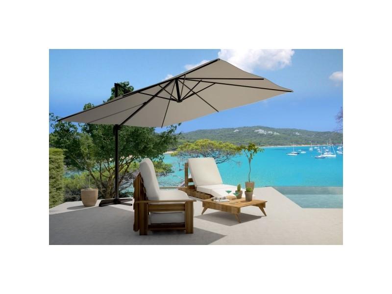 Panaro gris parasol d port rectangulaire de 3x4m Parasol deporte rectangulaire 3x4m