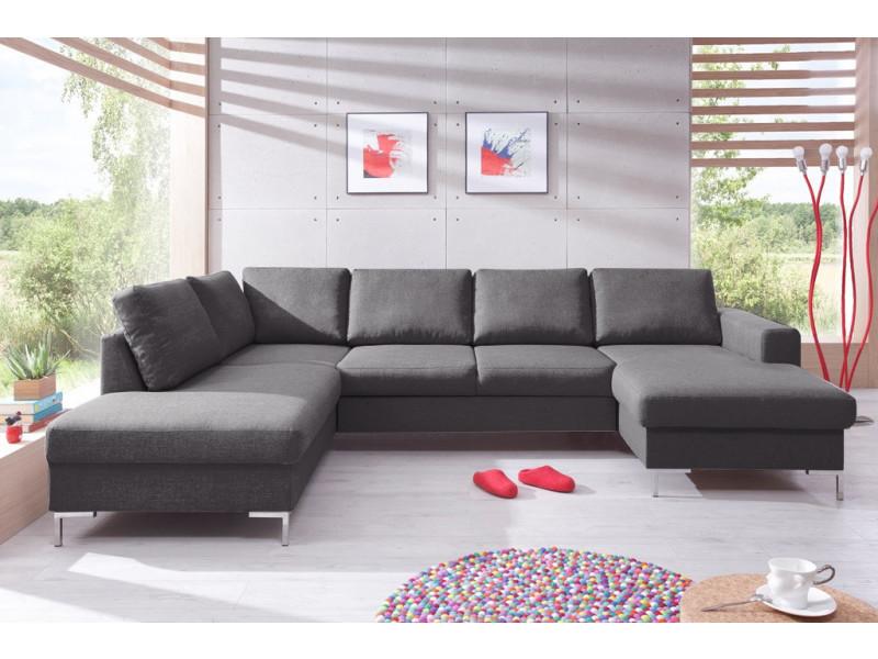 canap lilly panoramique convertible coffre gris anthracite 5906395167890 vente de bobochic. Black Bedroom Furniture Sets. Home Design Ideas