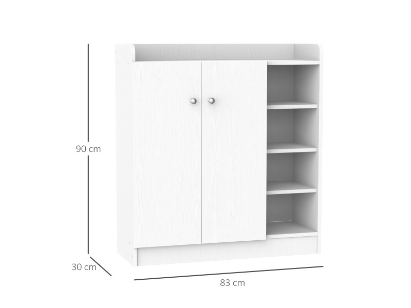 armoire etagere meuble a chaussures tres pratique en panneaux de particules blanc vente de. Black Bedroom Furniture Sets. Home Design Ideas