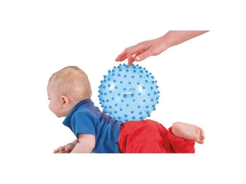 Balle - boule - ballon balle sensorielle bleu - diametre 20 cm