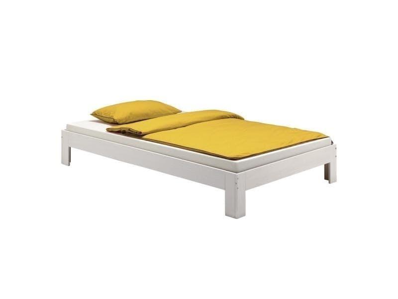 lit futon thomas couchage simple 120 x 200 cm 1 place et. Black Bedroom Furniture Sets. Home Design Ideas