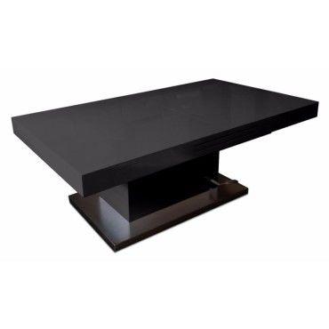 Table basse relevable extensible setup noir brillant - Table basse relevable extensible conforama ...
