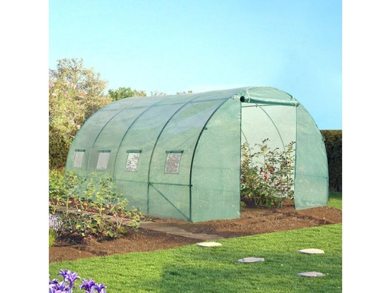 Serre de jardin tunnel 12 m² verte 3x4 m - Vente de ID ...