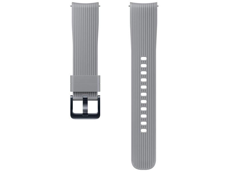 Bracelet en silicone 20mm gris samsung et-ysu81mj pour galaxy watch