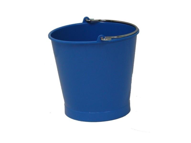 Seau 13 litres bleu anse inox - gilac