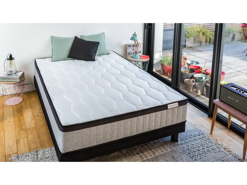 ensemble matelas ressorts ensach s sommier 160x200 spring memo royal hbedding mousse. Black Bedroom Furniture Sets. Home Design Ideas