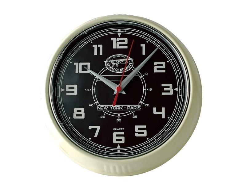 horloge murale spirit of st louis bryson noir vente de spirit of st louis conforama. Black Bedroom Furniture Sets. Home Design Ideas