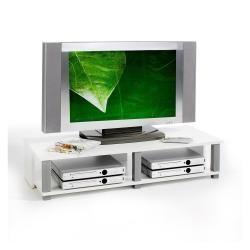 Meuble tv bas gero mdf décor blanc