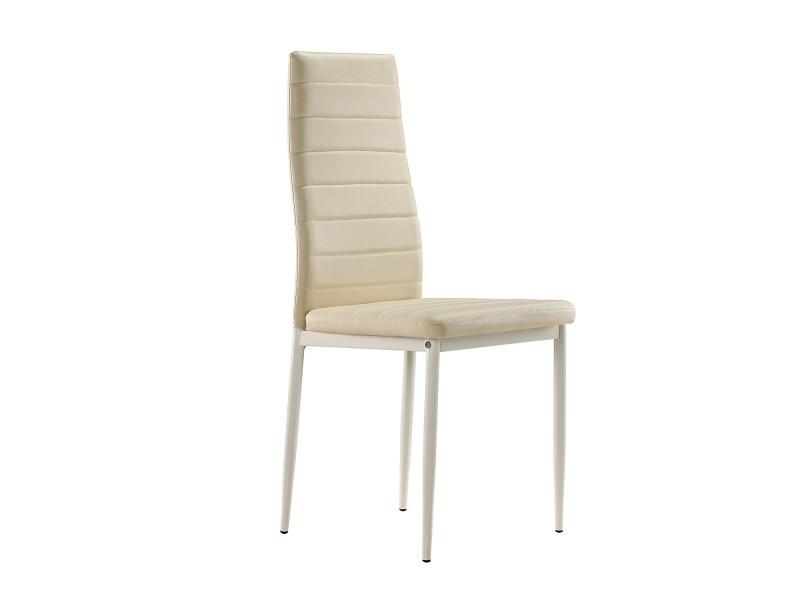 chaises s2 design et ultra confort beige lot de 6 vente de chaise conforama. Black Bedroom Furniture Sets. Home Design Ideas