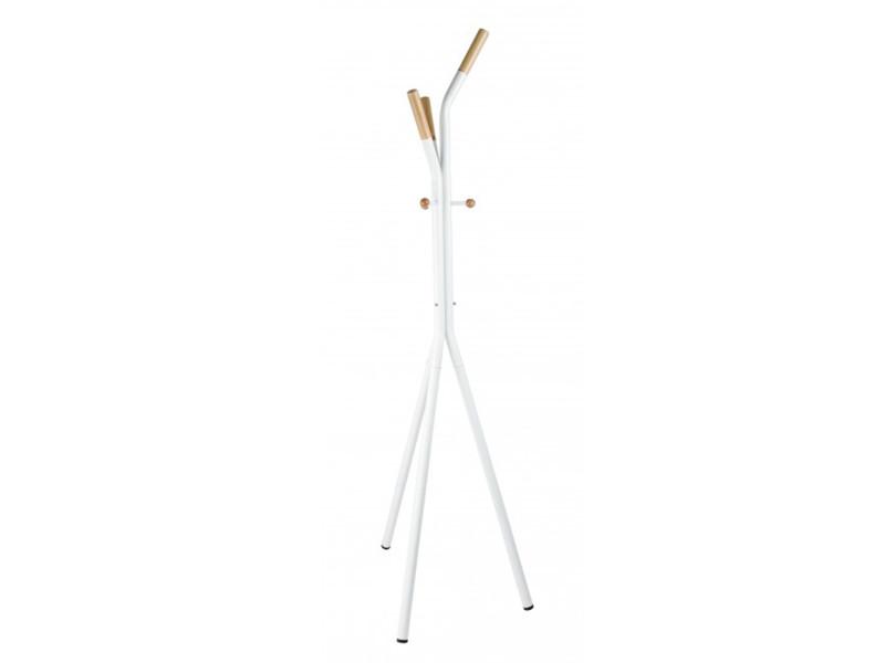 Porte-manteau en bois coloris blanc - l 46 x p 46 x h 178 cm -pegane-