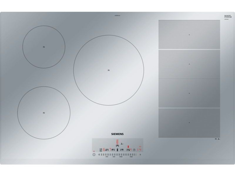 Table de cuisson à induction 80cm 5 feux 7400w flexinduction inox - ex859fvc1e ex859fvc1e