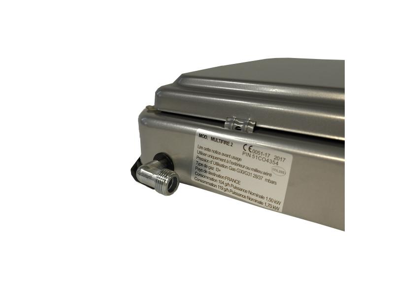 Plaque de cuisson gaz portable 2 feux 3200 w silver 2 butane-propane gris  aluminium. prevnext a90e370ccfcf