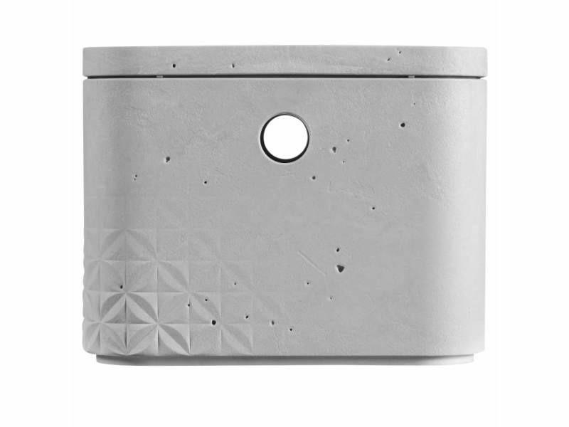 Curver boîtes de rangement beton avec couvercle 3 pcs s gris clair 427243 - Vente de CURVER ...