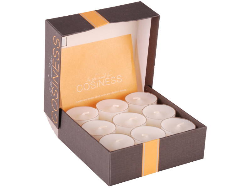 Lot de 18 bougies collection spaa coffret cadeau chauffe plat parfumé cosiness