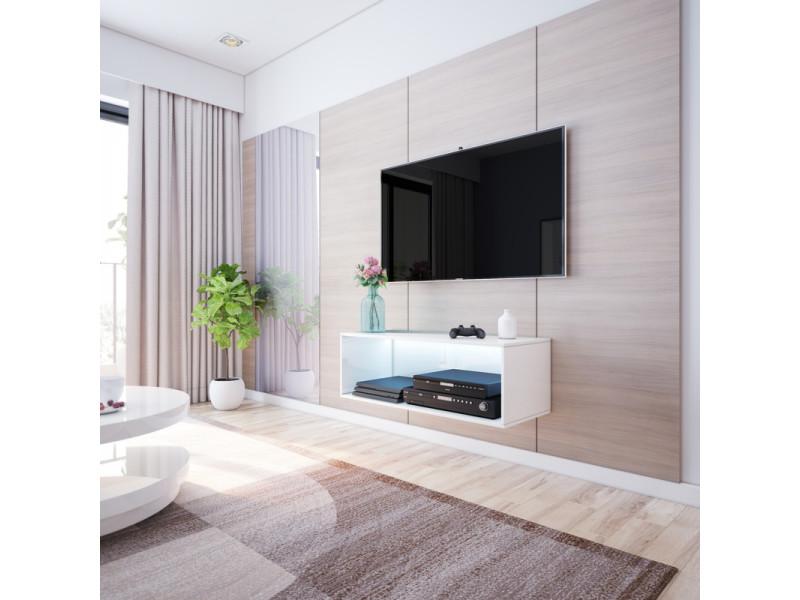 Meuble Tv Banc Tv Leo 100 Blanc Style Moderne Style
