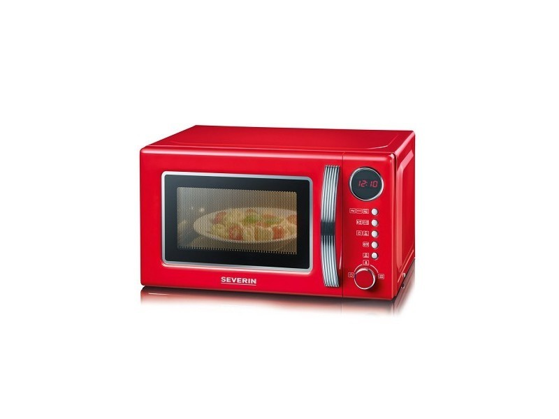 Micro-ondes grill 20l 700w rouge/silver - 7893 7893
