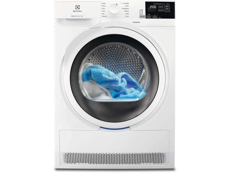 Sèche-linge à condensation 8kg electrolux 60cm a+, ew 7 h 4820 sp