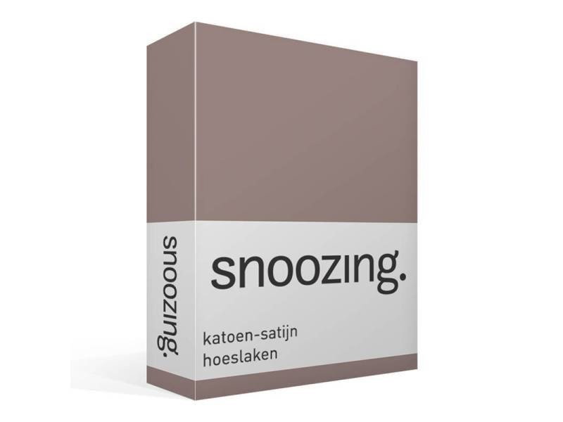 Snoozing - baumwollsatin - spannbettlaken - 140x220 cm - taupe SMUL102167012